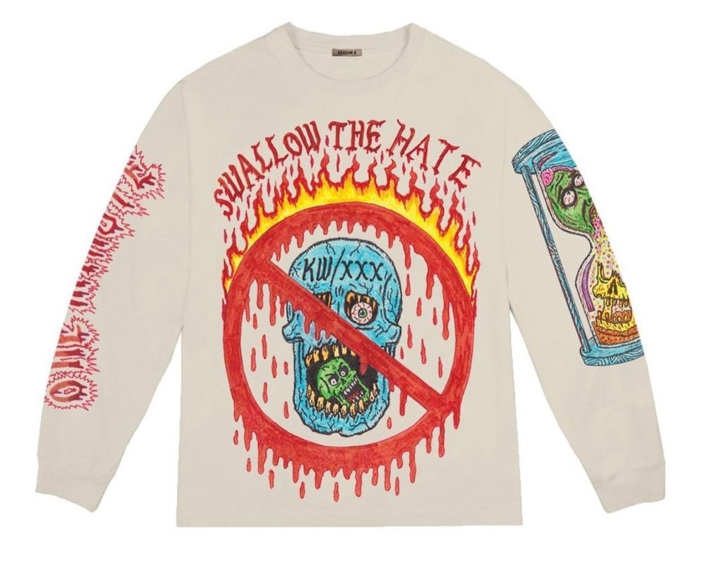 081ceb680a9ef Yeezy Season 6 Xxxtentacion Skins Swallow The Hate Kanye West Long Sleeve  Medium  fashion  clothing  shoes  accessories  mensclothing  shirts (ebay  link)