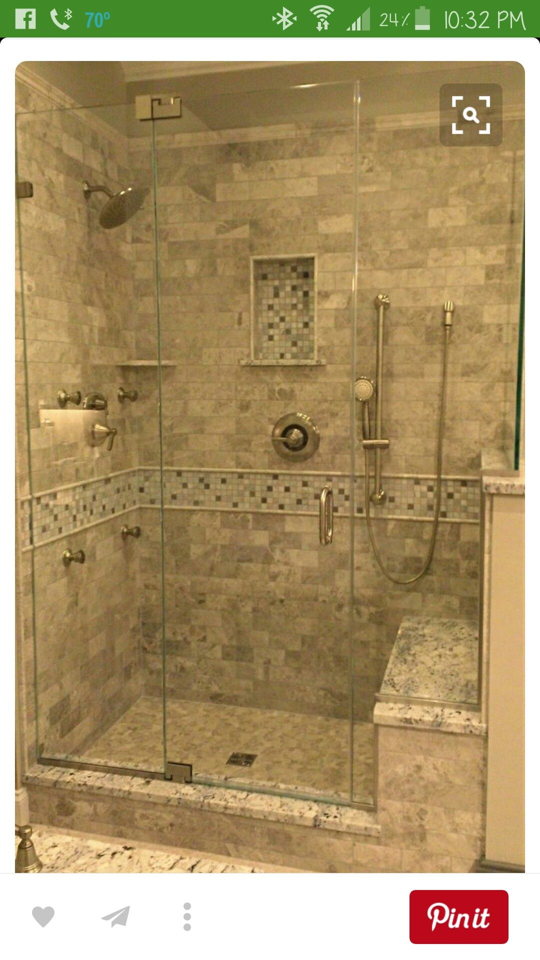 Pin By Cindy On Remodel Tile Walk In Shower Bathroom Remodel