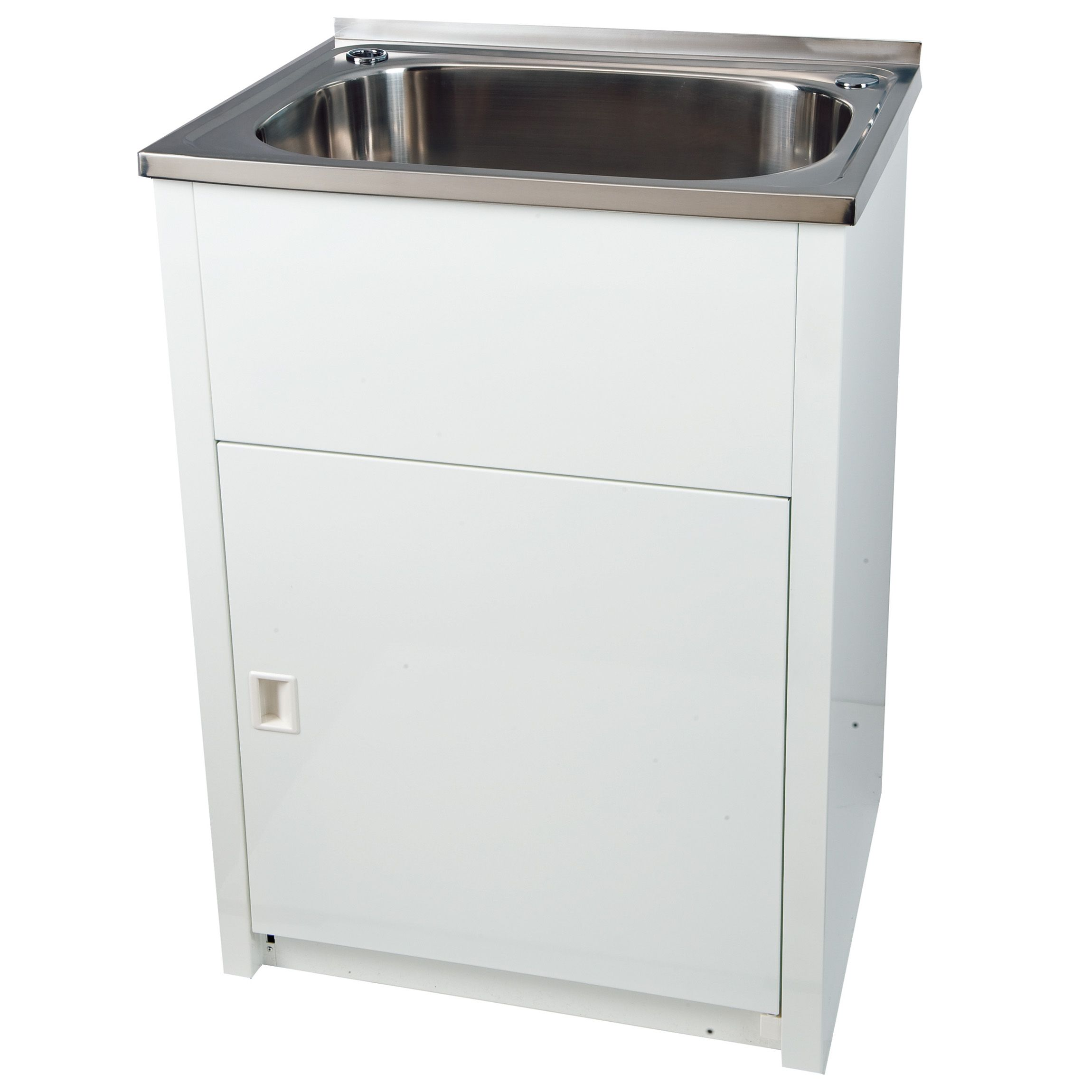 Everhard 45l laundry trough and cabinet 71076 bunnings for Kitchen cabinets bunnings
