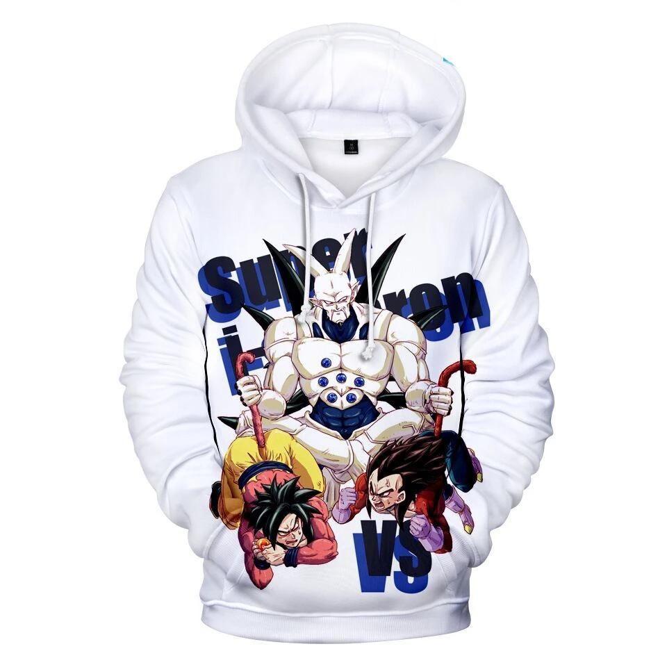 Dragon ball z 3d printed hoodies mens hoodie long sleeve
