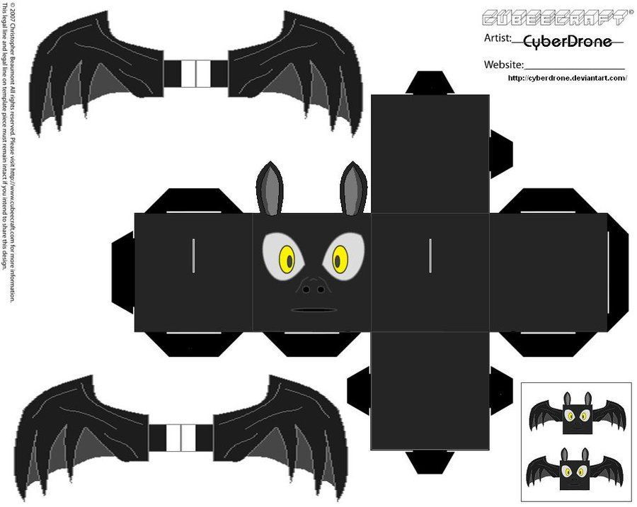 Halloween Bouwplaten.Cubee Bat By Cyberdrone Deviantart Com On Deviantart