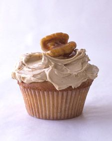 Maple Buttercream and walnut cupcakes.