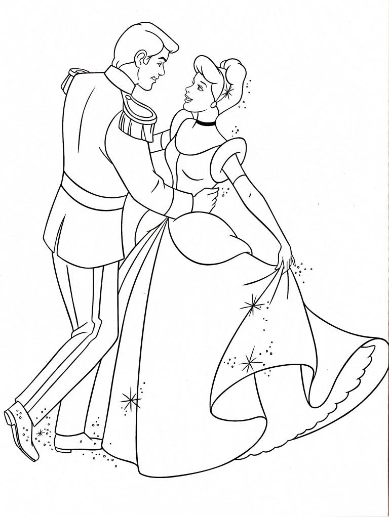Free Printable Cinderella Coloring Pages For Kids Cinderella