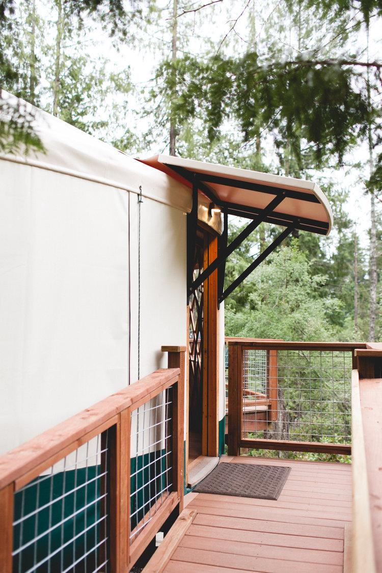 Yurt Glamping At Lakedale Resort Truelane Yurt Awning Yurt Living