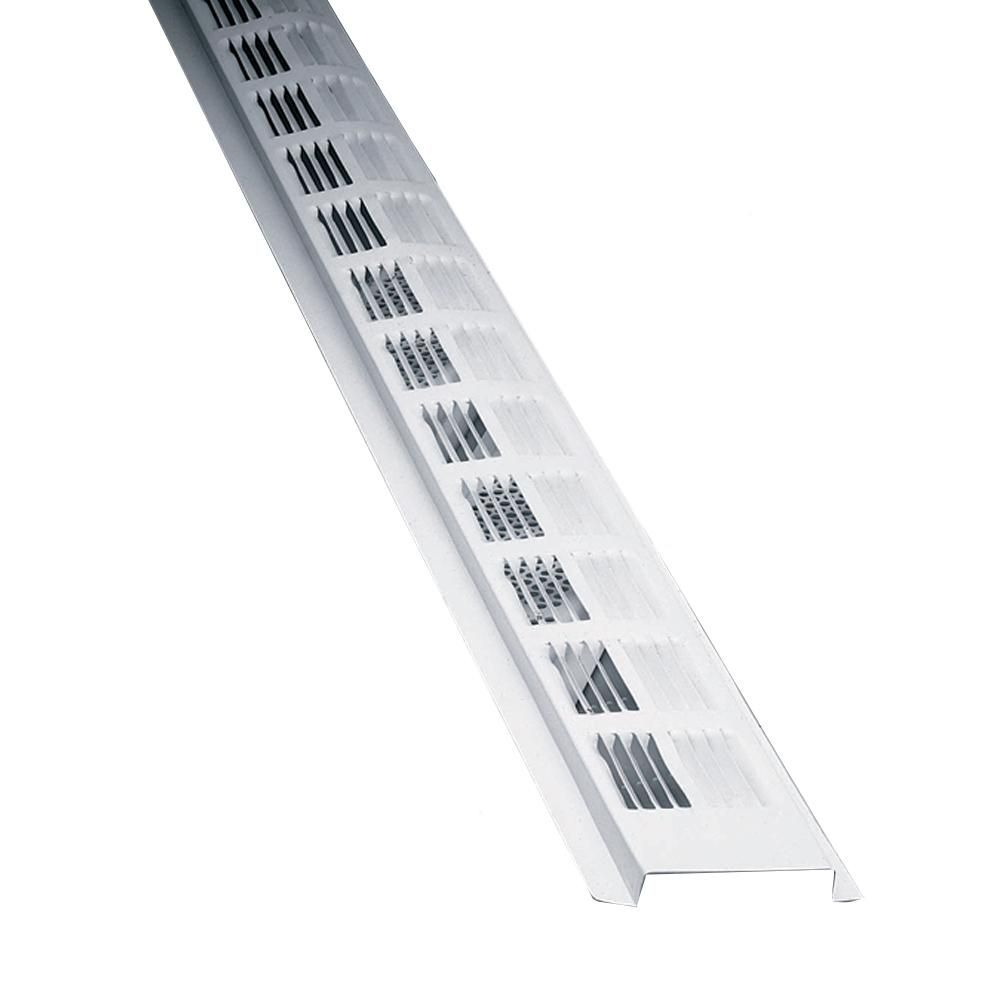 Air Vent 8 Ft Louvered Aluminum New Construction Continuous Soffit Vent In White Sold In 50 Pieces Carton Only Shed House Plans New Construction Ventilation System
