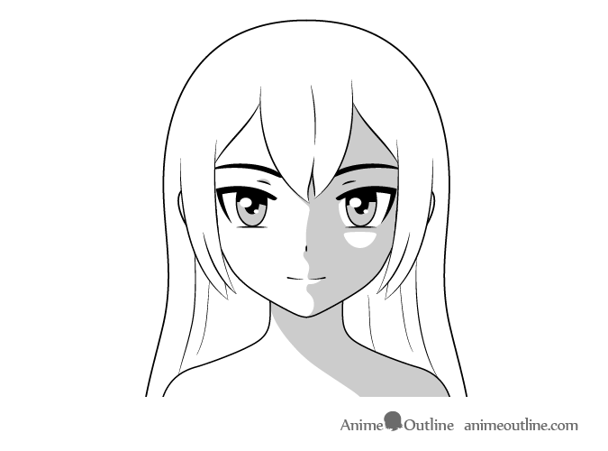 How To Shade An Anime Face In Different Lighting Animeoutline Anime Art Dark How To Shade Anime