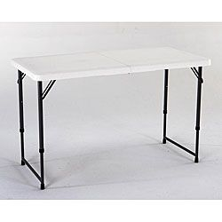 4ft Adjustable Height Table I D Love This For Kid Crafts And My Crafts When I Want A Taller Surface Adjustable Height Table Folding Table Fold In Half Table