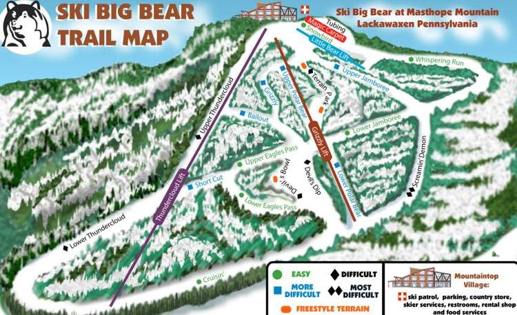 Big Bear Ski Resort Bigger Trailmap Pictures Of Ski Big