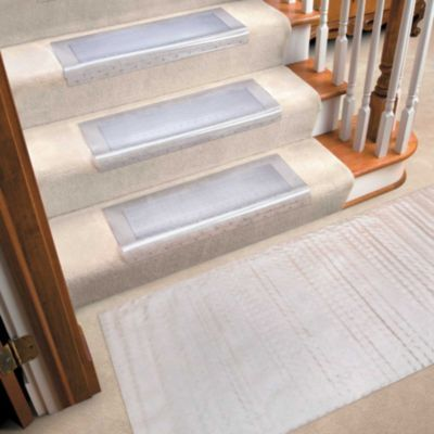Clear Vinyl Runners And Stair Treads Vinyl Stair Treads Carpet   Vinyl And Carpet Stairs   Thin   Indoor   Light   Low Pile   Laminate