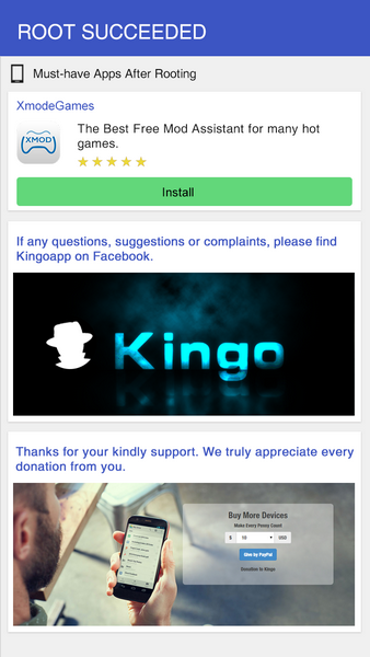 Free download KingoRoot.apk, the best one click Android