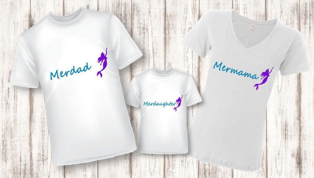 Mermaid Family Shirt, Merfamily, Mermaid, Family Shirts