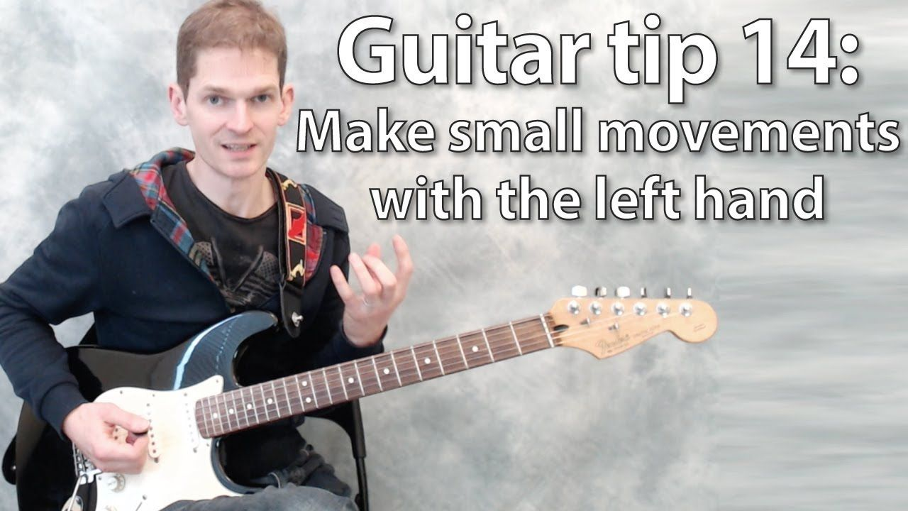Guitar tip 14 left hand technique and making small