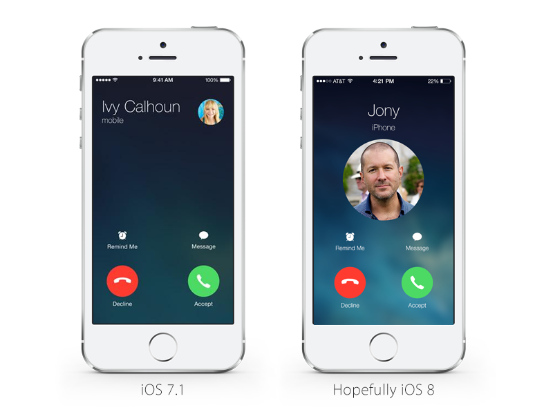 iOS 7.1 Incoming Call Redesign by Christian Lue
