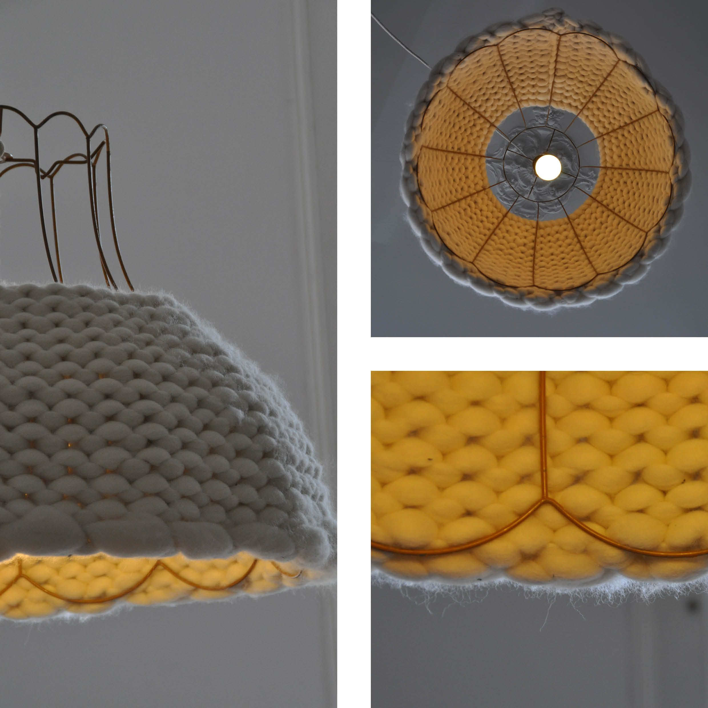Lamp Made Of Thick Wool Knitted By Using Broomsticks Wwwblikwarennl