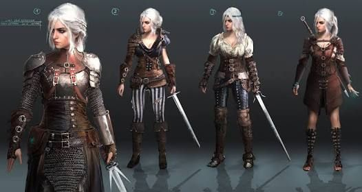 Image Result For Witcher 3 Ciri Alternate Look Concept Art Characters The Witcher Armor Clothing