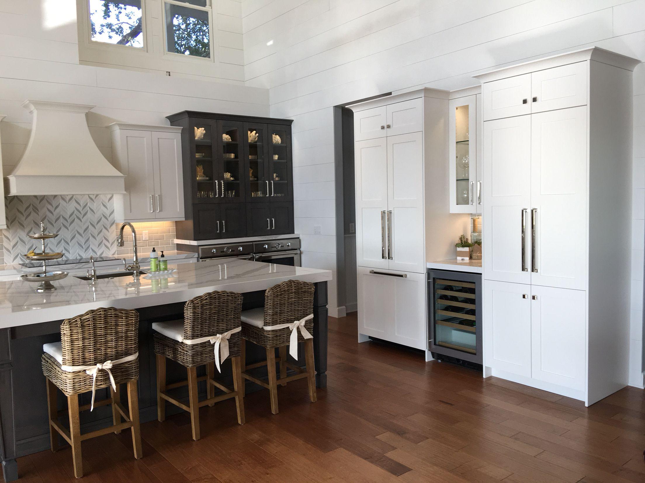 Ballard Design Rosalind Counter Stools Built In Thermadore Fridge