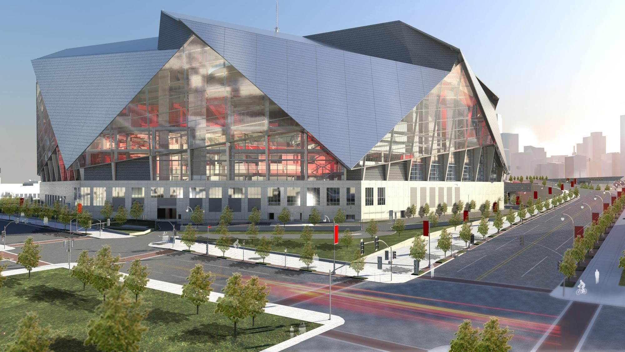 Gallery Of 360 Architecture Tops New Atlanta Stadium With Retractable Roof Petals 1 New Atlanta Stadium Architecture