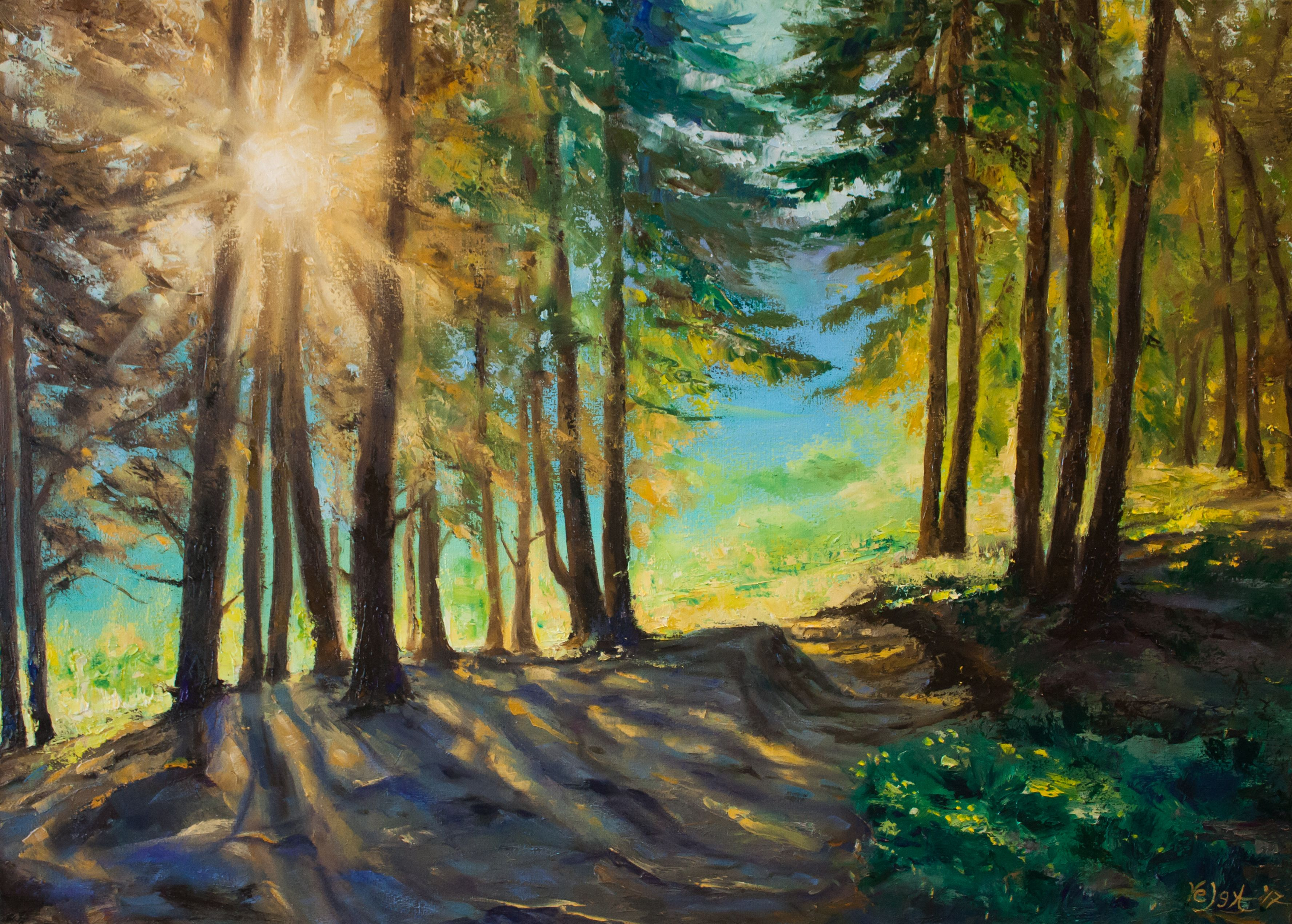 Velga Art Tetiana Kovalenko Landscapes Paintings For Sale Original Landscape Painting Photorealism Nature Paintings