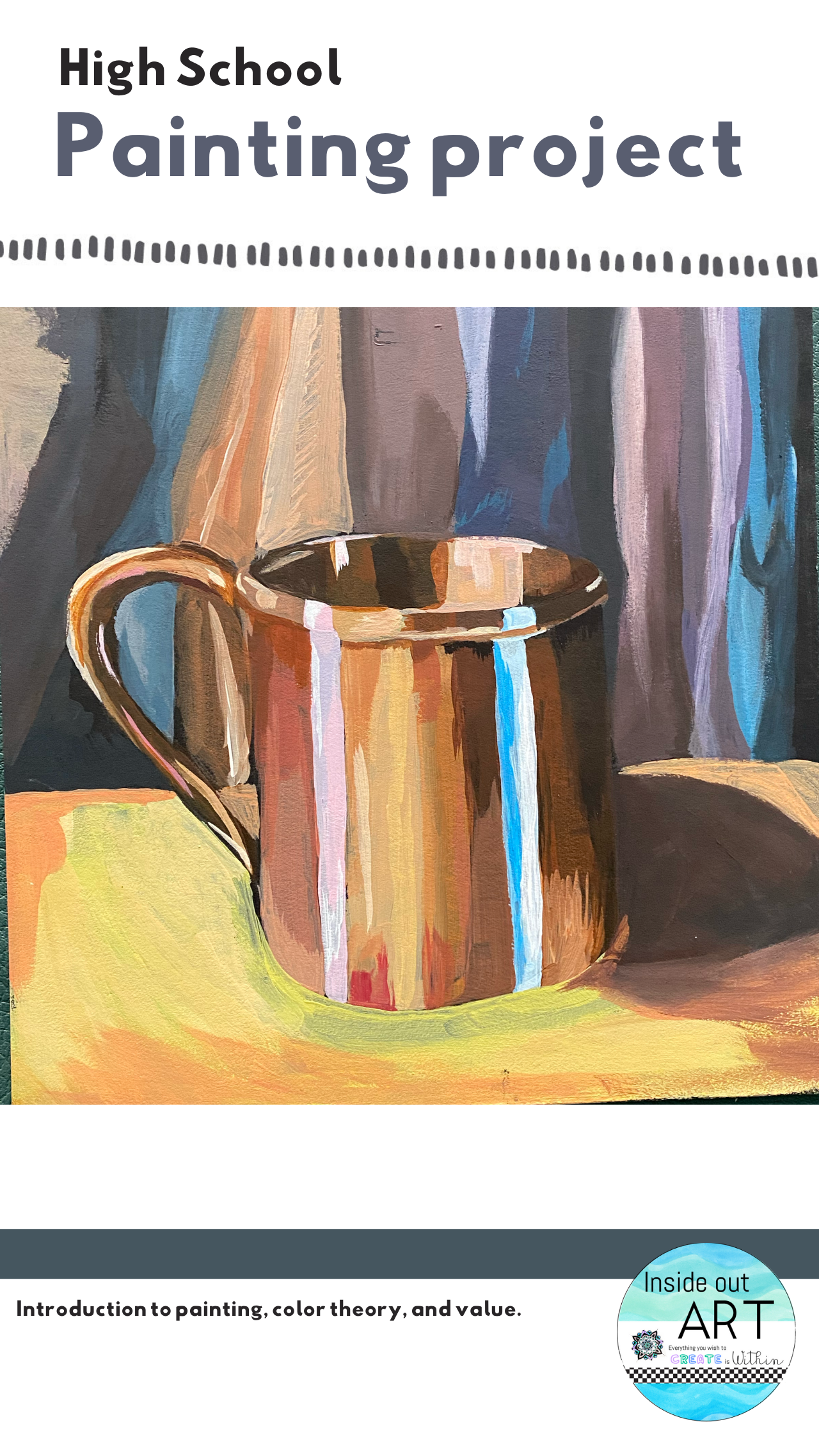 High School Painting Copper Mug In