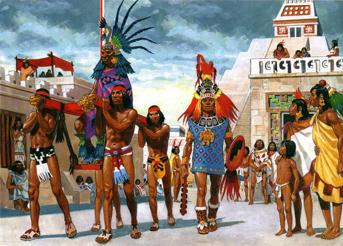 Aztec emperor's procession | Aztec art, Indigenous north americans ...