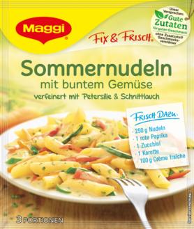 Maggi fix & frisch Sommernudeln mit buntem Gemüse | maggi ...