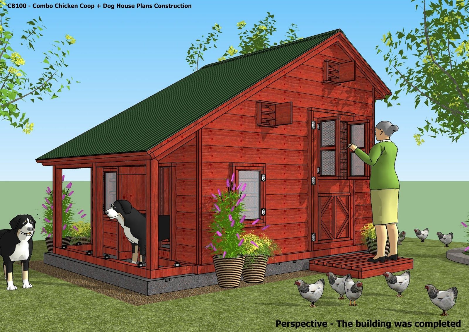 CB100 - Combo Plans - Chicken Coop Plans Construction ...