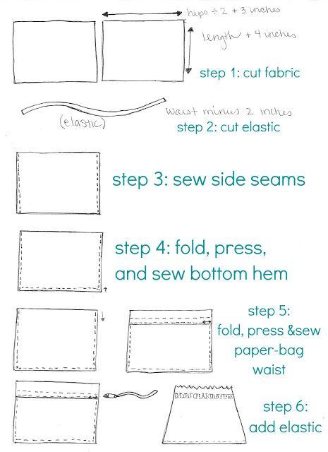 ((handmade monday)) sew it yourself paperbag skirt
