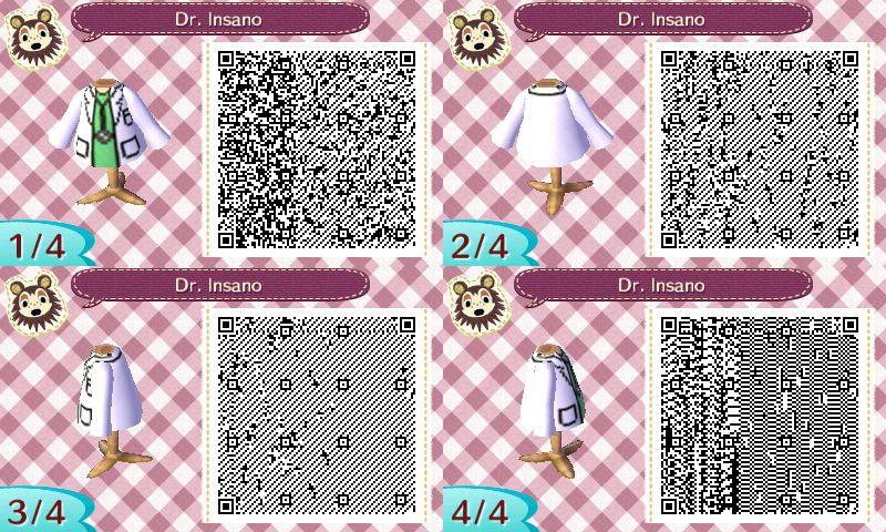 Acnl Qr Code Doctor Qr Codes Animals Animal Crossing Qr Qr