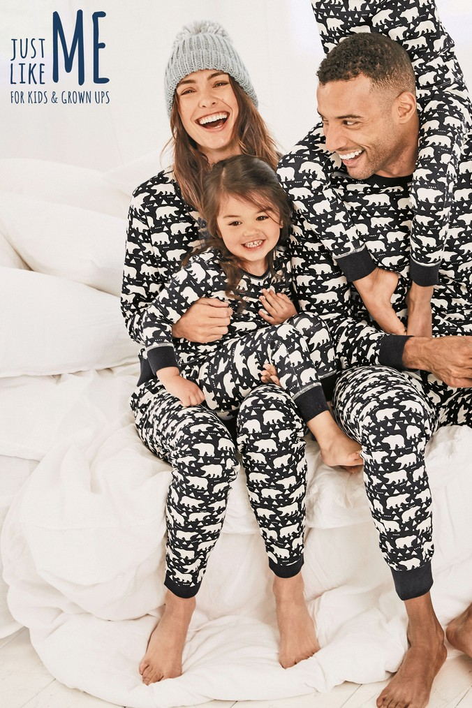 e6442a1997 Womens Next Navy Just Like Me Womens Polar Bear Pyjamas - Blue ...