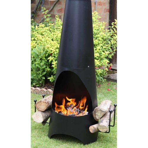 La Hacienda OSLO Stone Effect Garden Fire pit Patio Heater with Grill