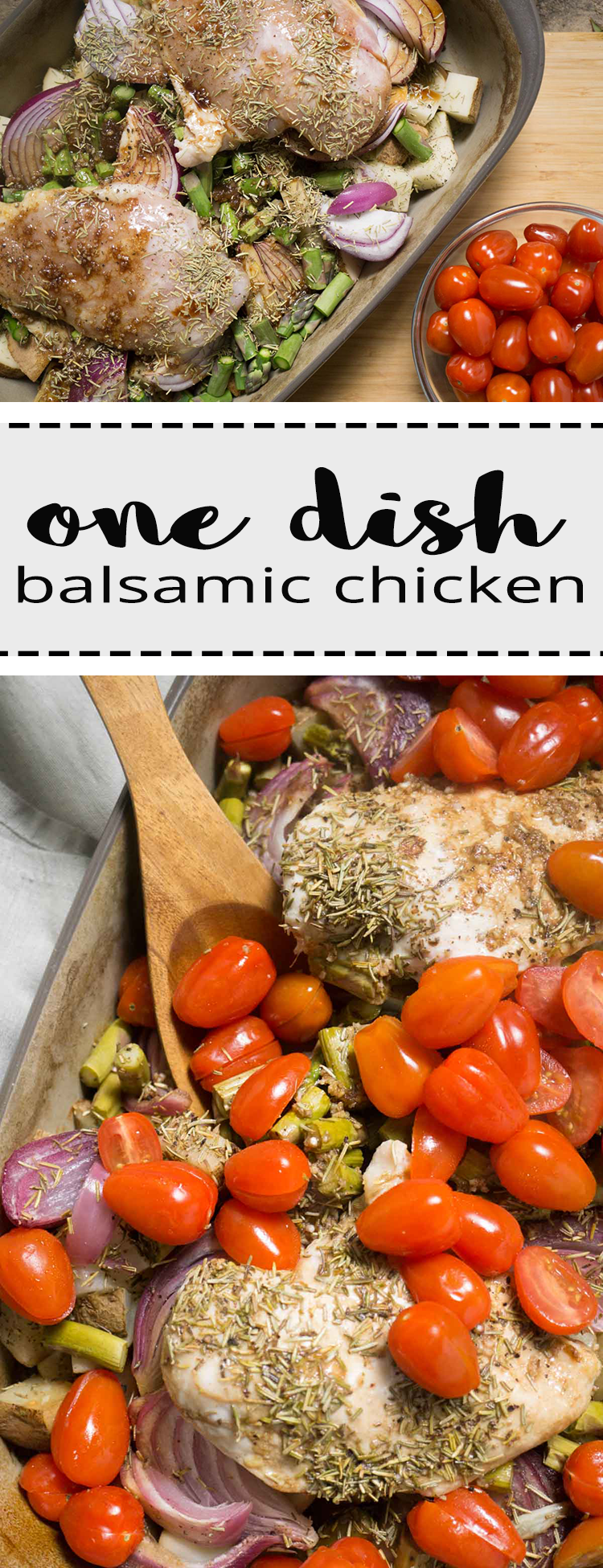one dish | balsamic | chicken | easy dinner | healthy meal | high protein