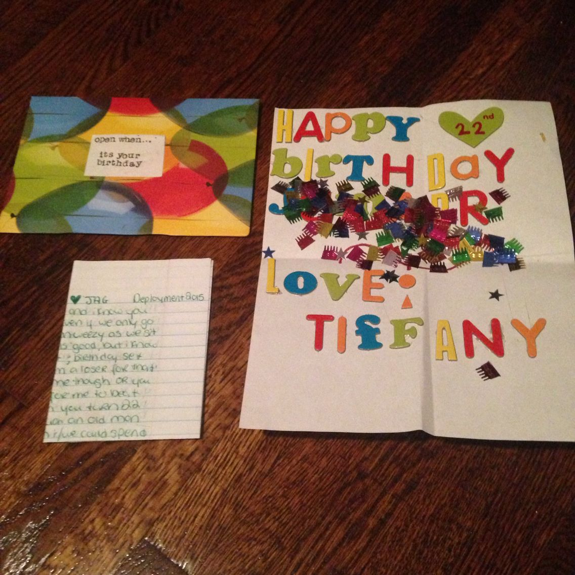 Open When It's Your Birthday- A Better Letter, A Happy