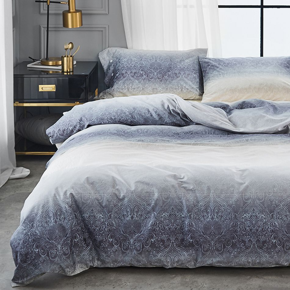400tc Bedding Sets Egyptian Cotton Fabric Luxury Bed Sets Grey Art Pattern 4 Pcs Queen King Size Cotton Bed Sheets For Hom Luxury Bedding Sets Bedding Sets Bed