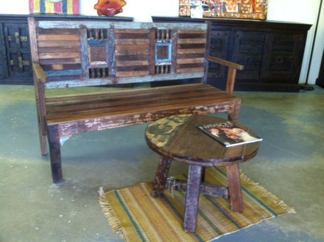 Teak bench for indoors or outdoors