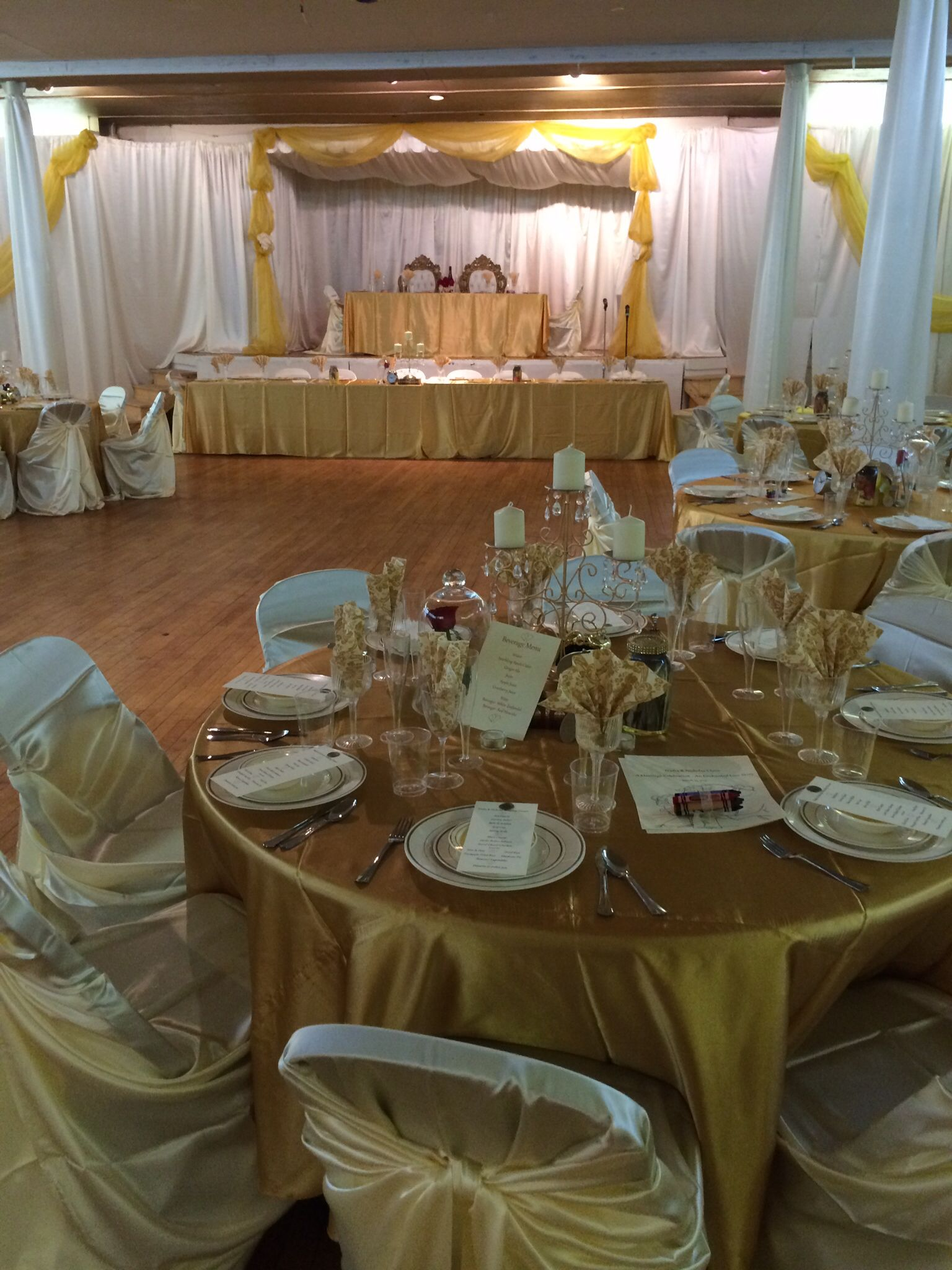 Beauty and the Beast wedding theme Ivory and Gold www.focusondivas ...