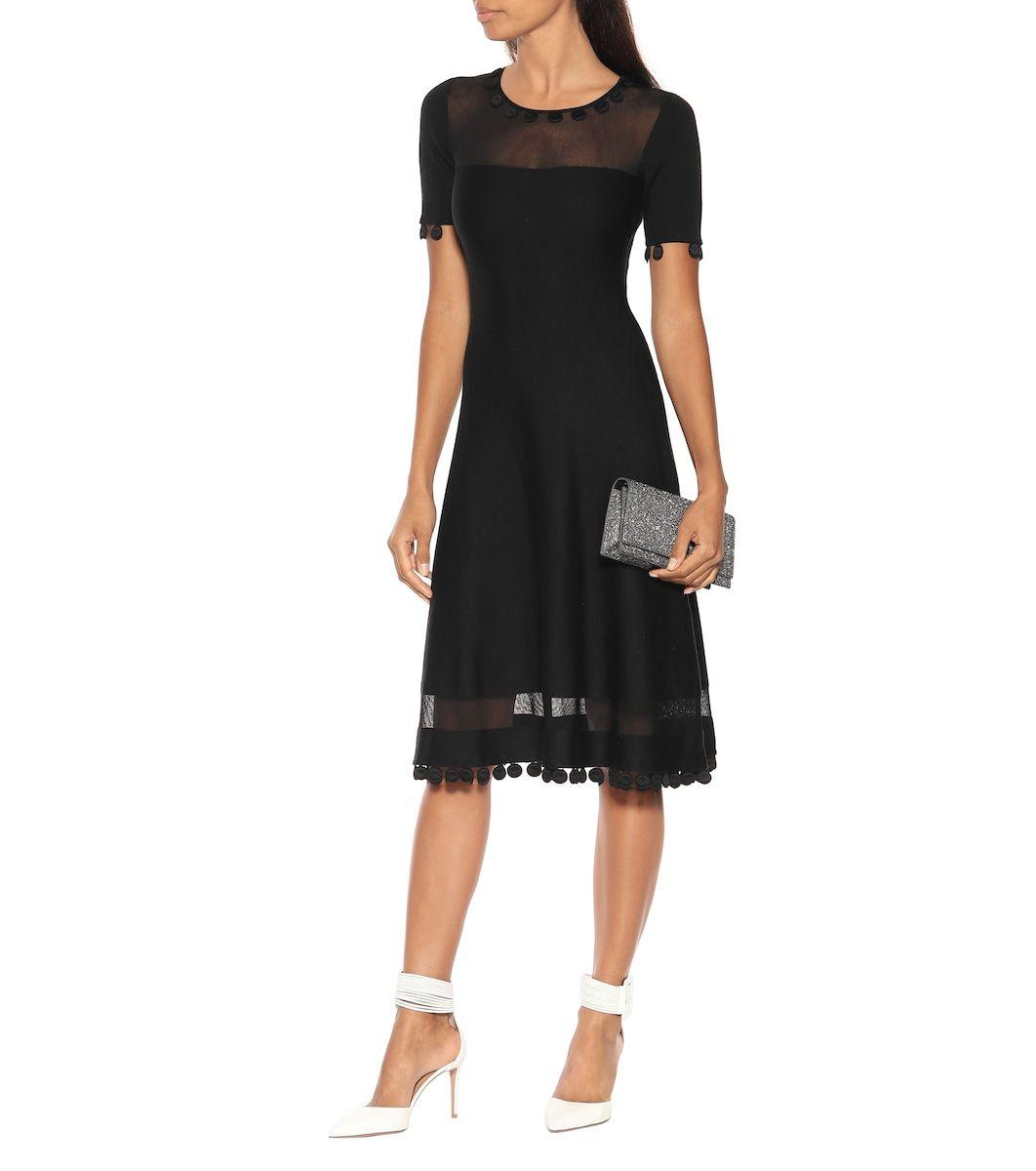 Wool And Silk Blend Midi Dress Dresses Midi Length Dress Midi Dress [ 1200 x 1062 Pixel ]