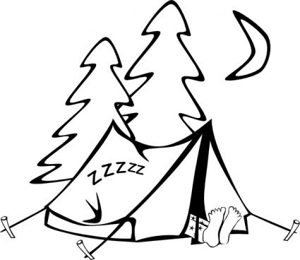 Sleeping In A Tent Clip Art Camping Clipart Camping Coloring Pages Coloring Pages