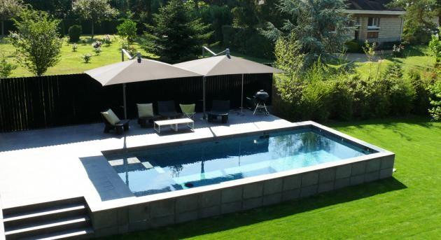 piscine semi enterr e piscine pinterest piscine piscine hors sol et piscine semi enterree. Black Bedroom Furniture Sets. Home Design Ideas
