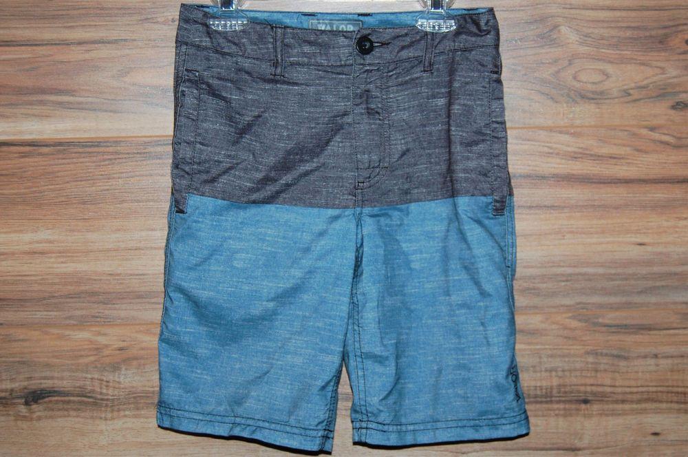 e1c44935af Valor Collective Boys Board Shorts Hybrid Swim Trunks Size 8 Gray Blue  #ValorCollective #BoardShorts