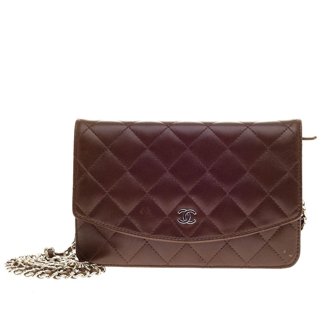 90ac68399a81 View this item and discover similar shoulder bags for sale at - This  authentic Chanel Wallet on Chain Lambskin in luxurious chocolate brown is a  sumptuous ...