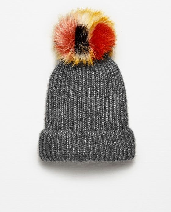 097bfa2ab97 RIB KNIT HAT WITH POM-POM - Available in more colours