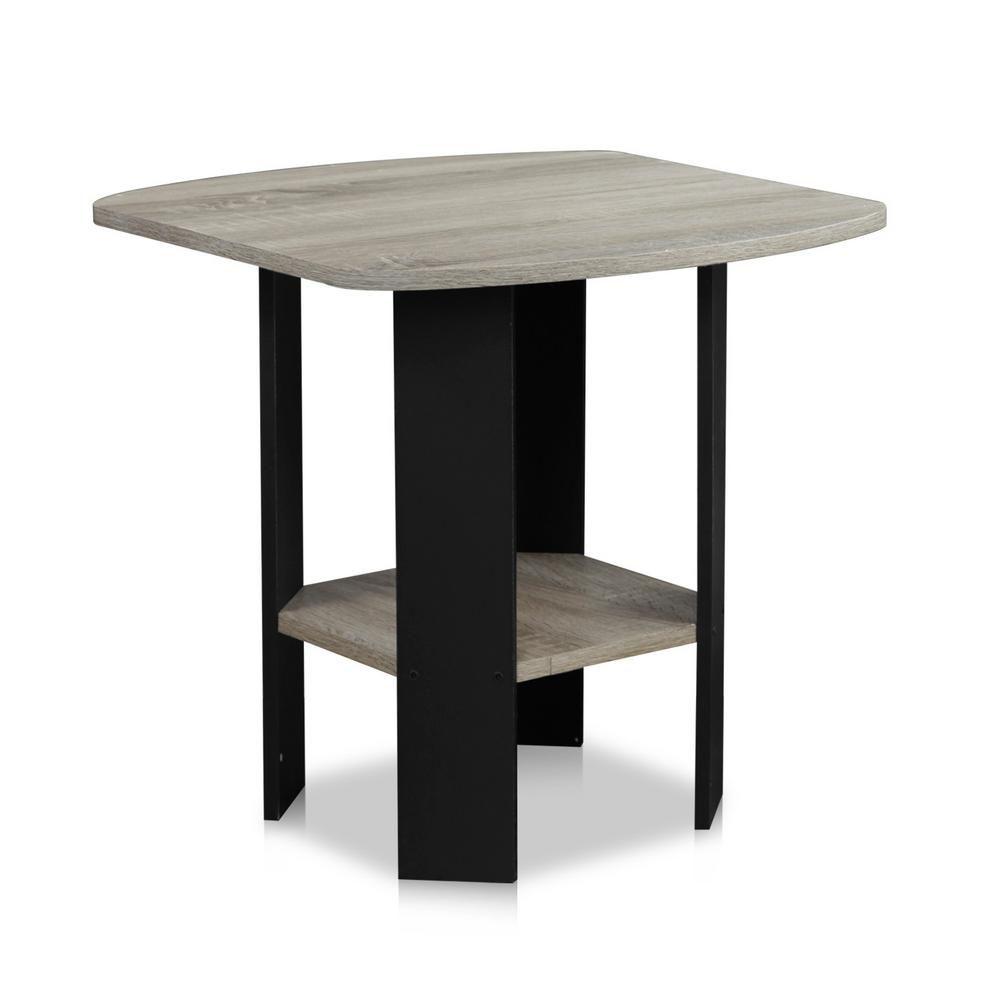 Furinno simple design french oak grey end table 11180gyw
