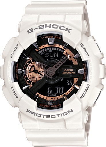 GA110RG-7A White G-Shock Watch with Rose Gold Accents  5f90d9b3960e
