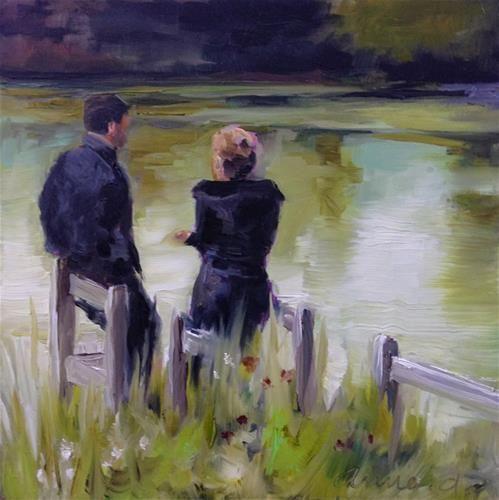 """""""An English Rendez-Vous…"""" - Original Fine Art for Sale - © Anne Ducrot"""