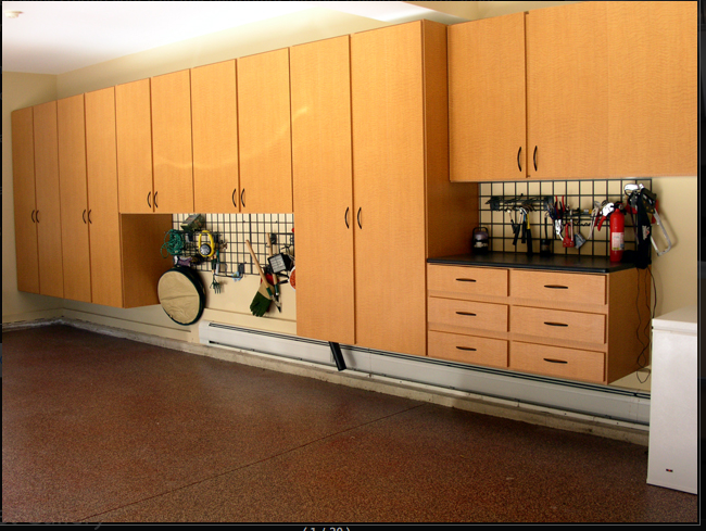 Awesome Custom Garage Cabinets In Our Signature Congo Spruce Color Line.