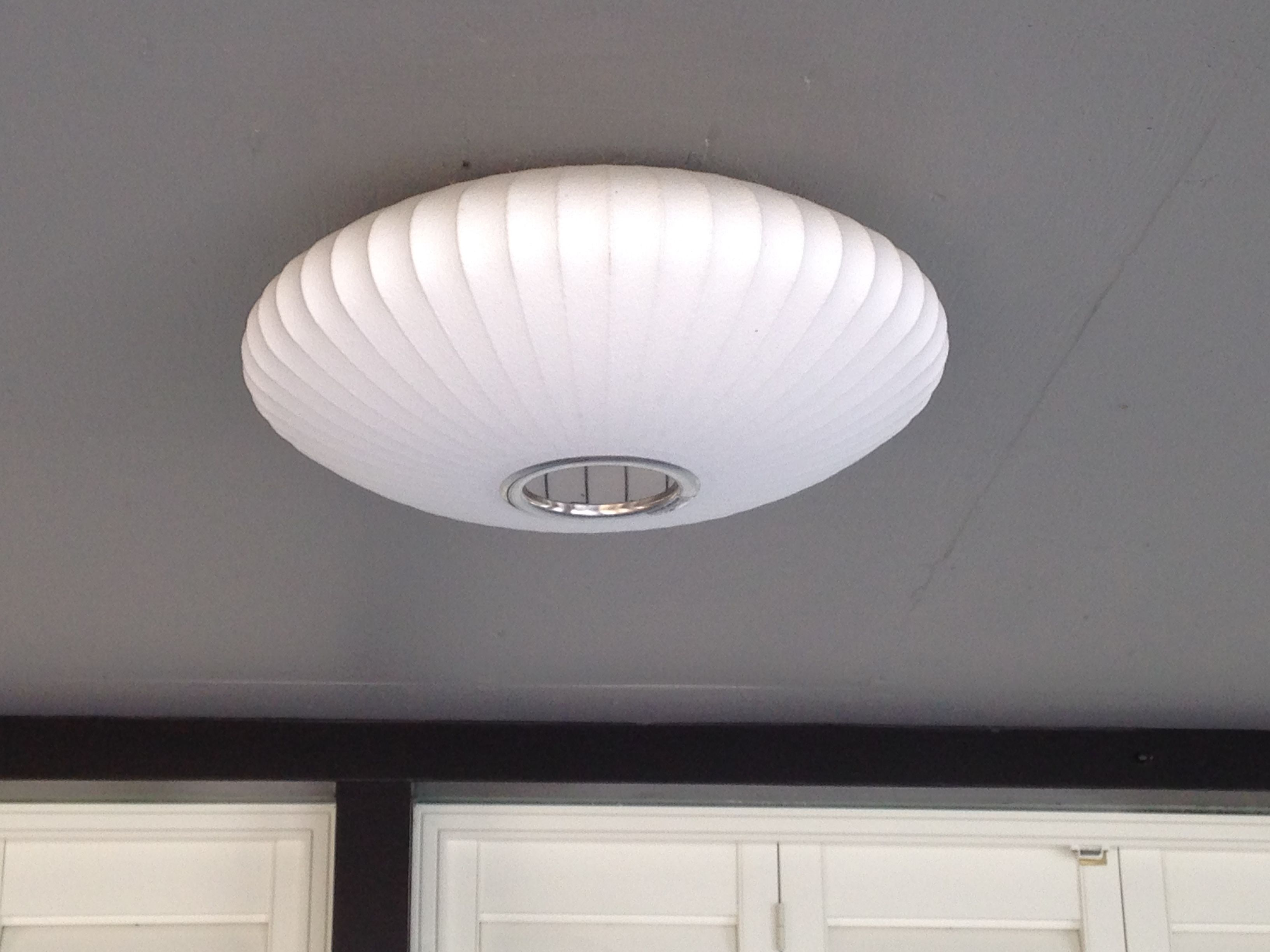 George Nelson Bubble Saucer Installed As Flush Mount Flush Mount Ceiling Lights Ceiling Lights Modern House Design