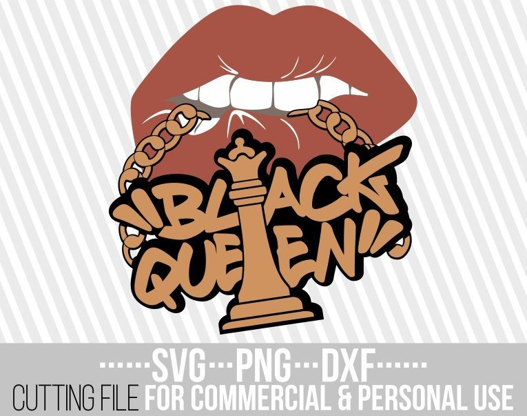 Download Black Queen svg, Gold chain svg, biting lips svg, Afro ...