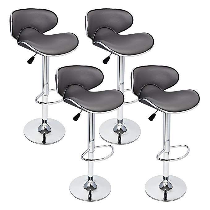 Pleasant Gothobby 4 Pcs Gray Modern Bar Stool Adjustable Height Theyellowbook Wood Chair Design Ideas Theyellowbookinfo