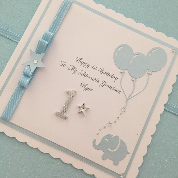 personalised 1st 2nd 3rd or 4th birthday card for grandson