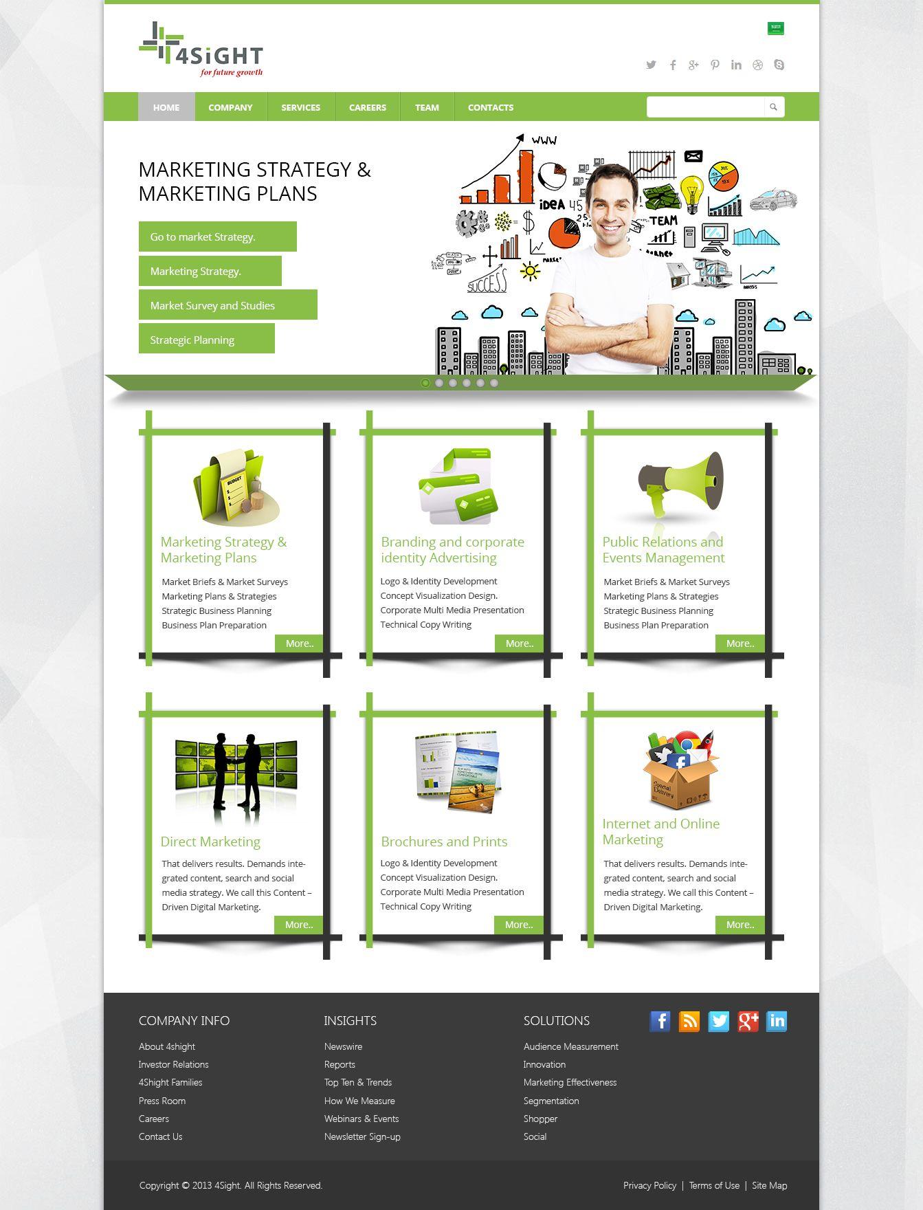 4shight Website Design Mockup Marketing brochure